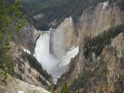 Lower Falls Yellowstone National Park USA